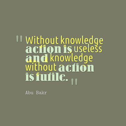 knowledgewithoutaction