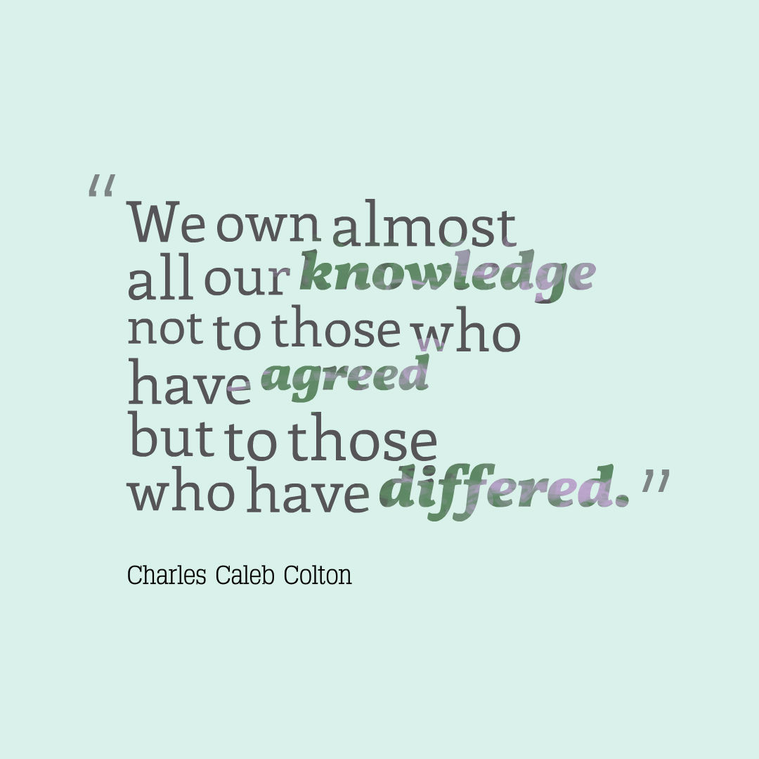 To Whom Do You Owe Your Knowledge?
