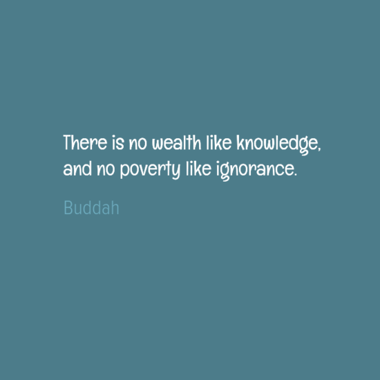 nowealthlikeknowledge
